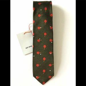 Jack Spade Ping Pong Tie Handmade Silk